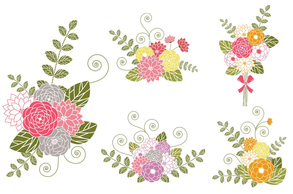 Flower Bouquets Clip Art ~ Illustrations ~ Creative Market