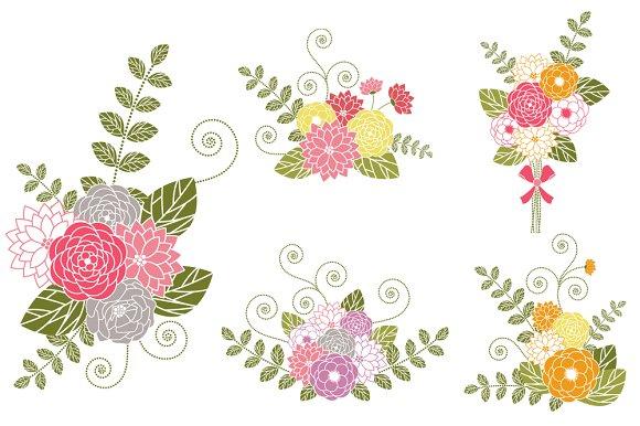Clip Art Flower Bouquet Clip Art flower bouquets clip art illustrations on creative market illustrations