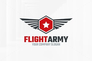 Flight Army Logo Template