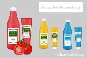 Sauce packaging mock-up. Bottles.