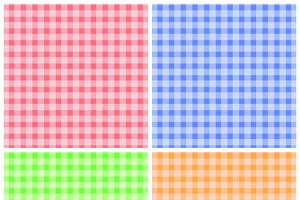 Set of Colorful Checkered Patterns