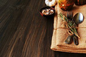 Seasonal wooden table