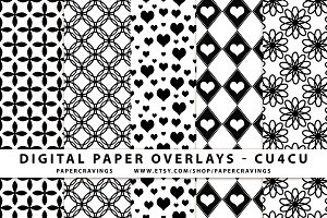 Pattern overlays, Photoshop template