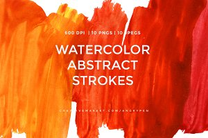 Watercolor Strokes Pack 2