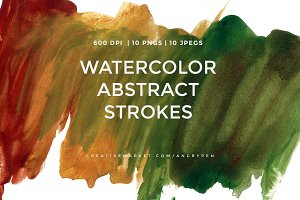 Watercolor Abstract Strokes V1