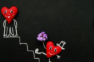 Hearts on the board