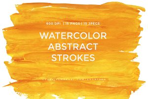 Watercolor Strokes Pack 3