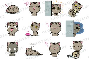 Den the cat sticker pack 2