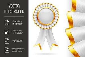 White award ribbon