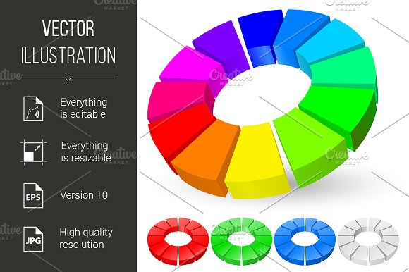 Pie Chart Graphics Creative Market