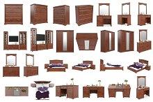 Set classic furniture, isolated