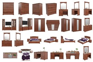 Set classic furniture, isolated