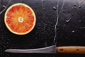 Half Blood Organge with knife