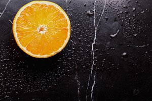 Orange on Marble Board