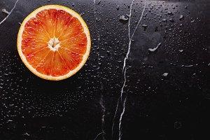 Half-Blood Orange on Marble board