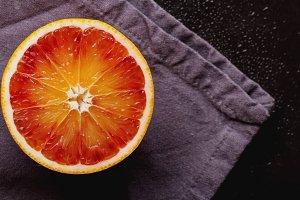 Half Blood Orange on Napkin