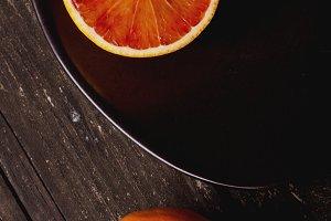 Half Blood Orange on Plate