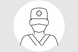 Doctor avatar line icon