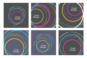 Abstract line circle design Vol.2