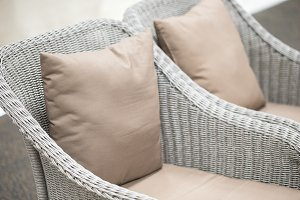 pillow on white sofa