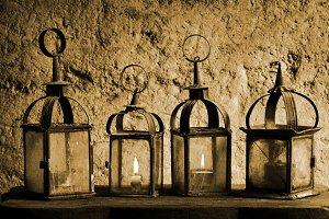 vintage candle lanterns