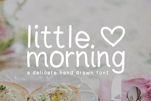 Little Morning Plain Font