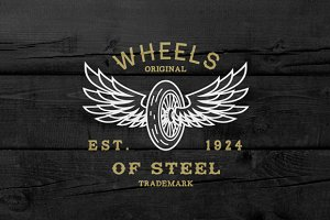 Vintage Label Wheels Of Steel