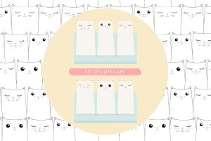 Cats seamless pattern + Bonus card&#x3B;)