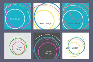 Abstract line circle design Vol.3