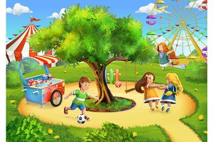 Park, playground background