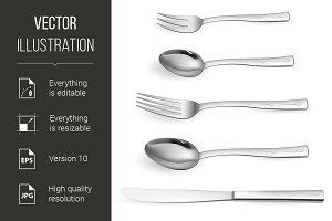 Realistic cutlery