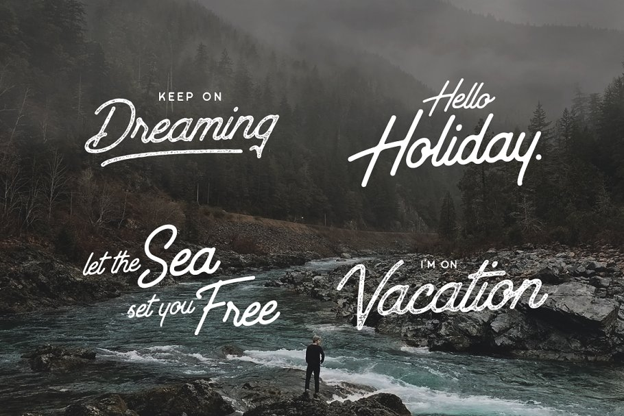 Best Outdoors Inks Typeface Vector