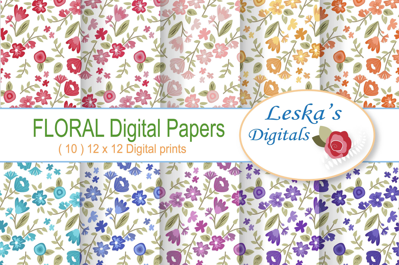 Digital paper flower patterns graphic patterns creative market mightylinksfo