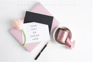 Stationery and Wedding Card Mockup