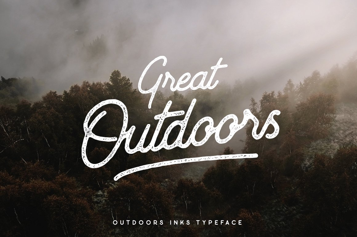 Outdoors Inks Typeface 20 Off Display Fonts Creative