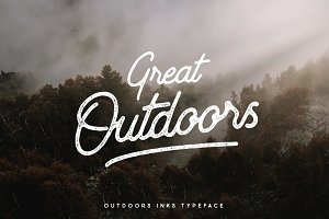Outdoors Inks Typeface - 20%OFF