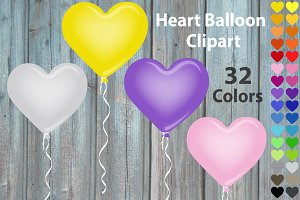 Clip Art - Balloon Hearts