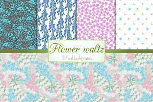 Flower waltz - background set