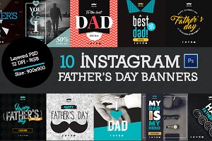 10 Father's Banners Instagram