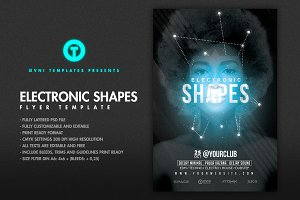 ELECTRO SHAPES Flyer Template