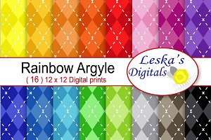 Argyle Digital Scrapbook Paper