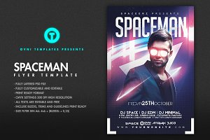 SPACE ELECTRO Flyer Template