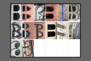 Alphabet Photography Letter B