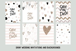 shiny wedding invitations, patterns
