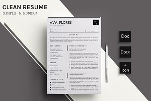 Clear Resume/CV Template-11