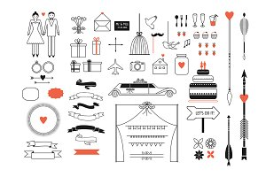 Wedding vector pack