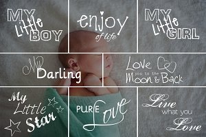 Newborn Photo Overlays vol. 3
