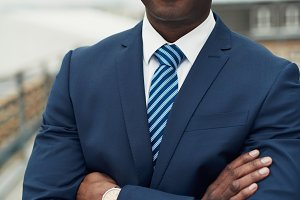 Confident African American businessman