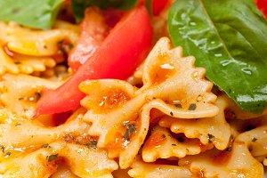 Italian farfalle butterfly pasta