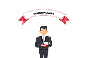 Qualified Lawyer Man